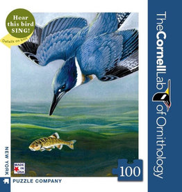New York Puzzle Company Belted Kingfisher 100pc Jigsaw Puzzle