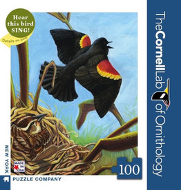New York Puzzle Company Red-winged Blackbird 100pc Jigsaw Puzzle