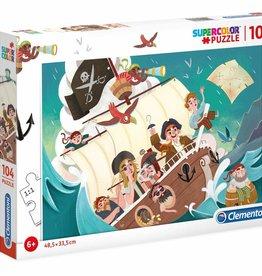Clementoni Pirates 104 pc Clementoni Jigsaw Puzzle