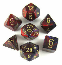 chessex Chessex 7 Dice Set Gemini Purple/Red/Gold