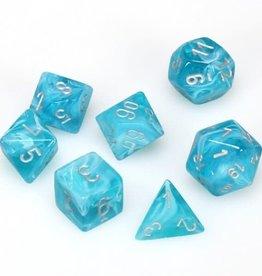 chessex Chessex 7 Dice Set Aqua/Silver