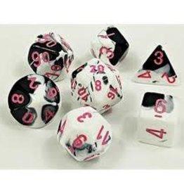 chessex Chessex 7 Dice Set Lab Dice Black/White/Pink