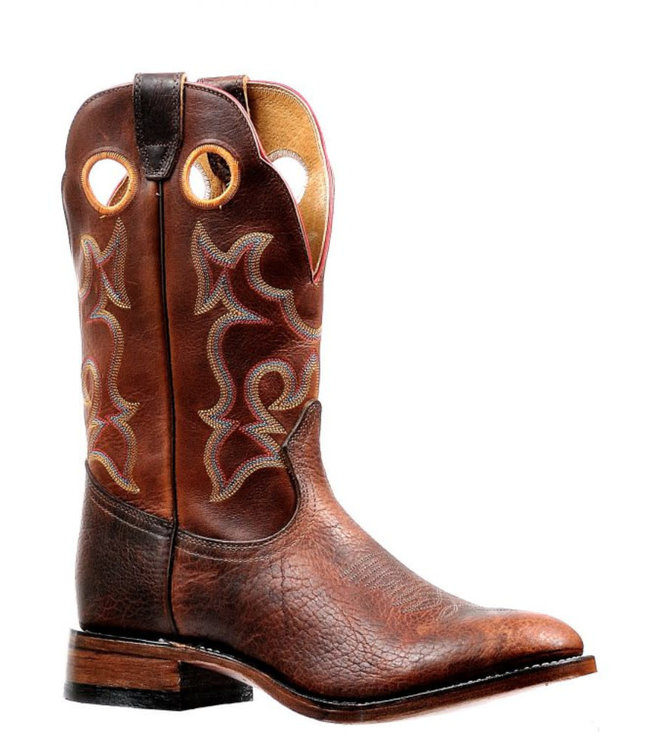 Bison Full Round Toe Boots