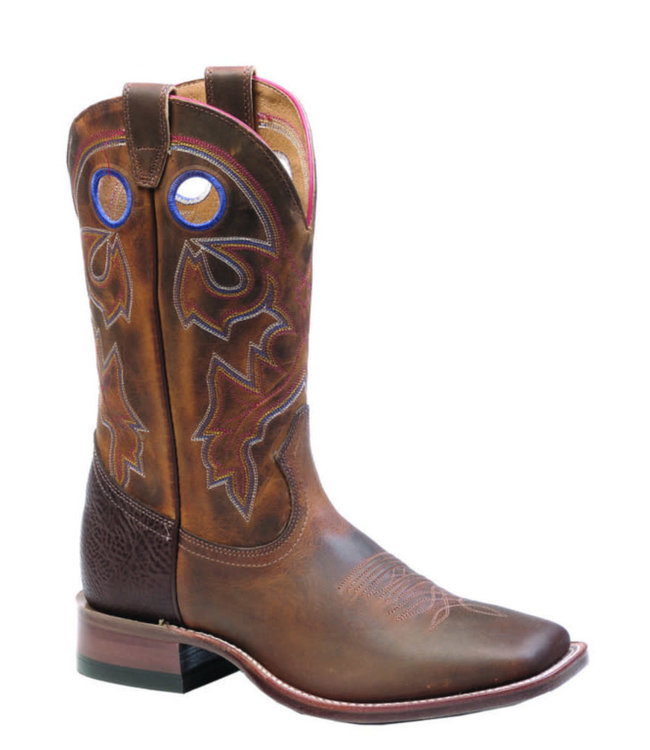 Boulet Leather Square Toe Boots
