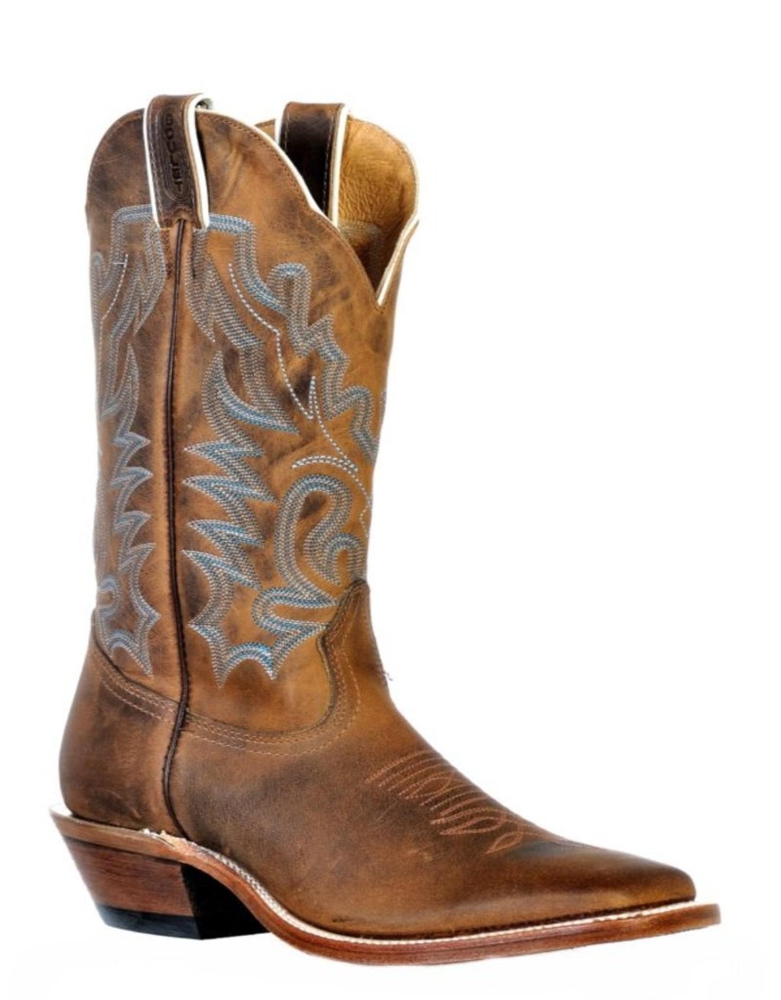 Boulet Boulet Square Toe Leather Boots