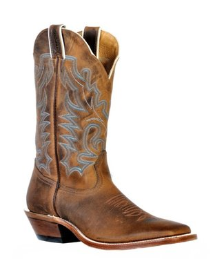 Boulet Square Toe Leather Boots