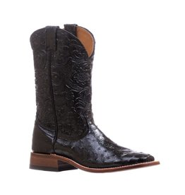 Boulet Square Toe Full Quill Ostrich Boots