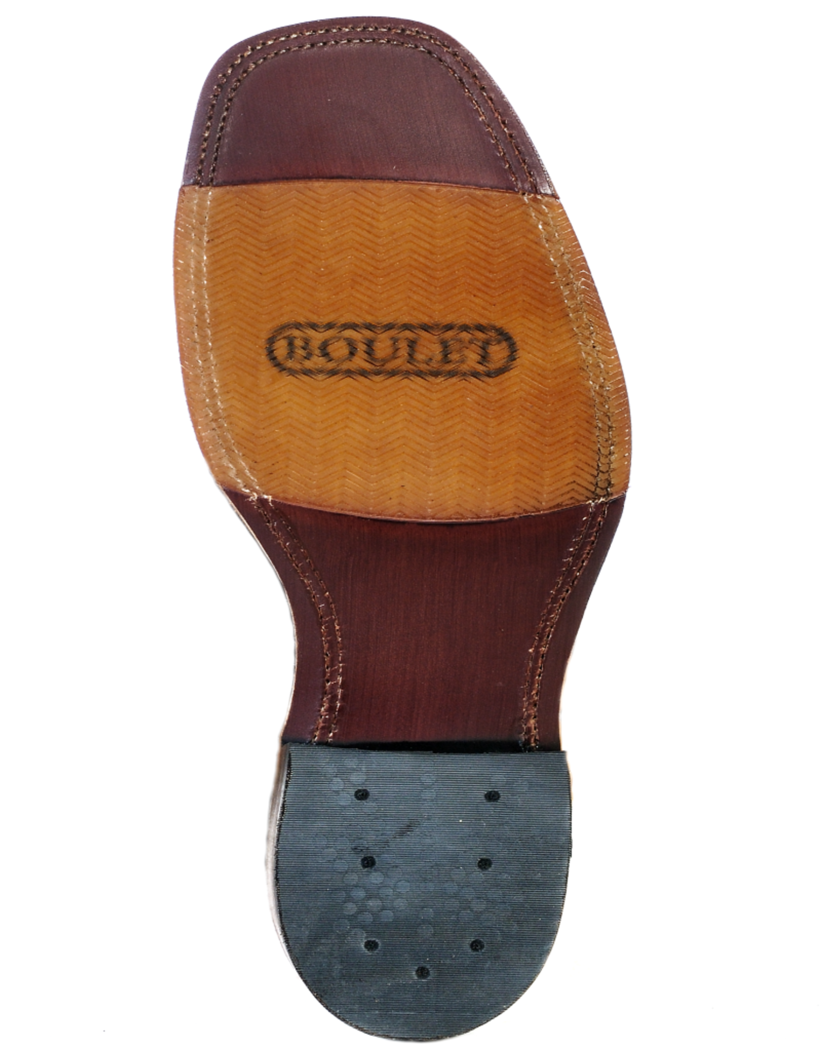 Boulet Boulet Square Toe Injected Leather Sole Boots