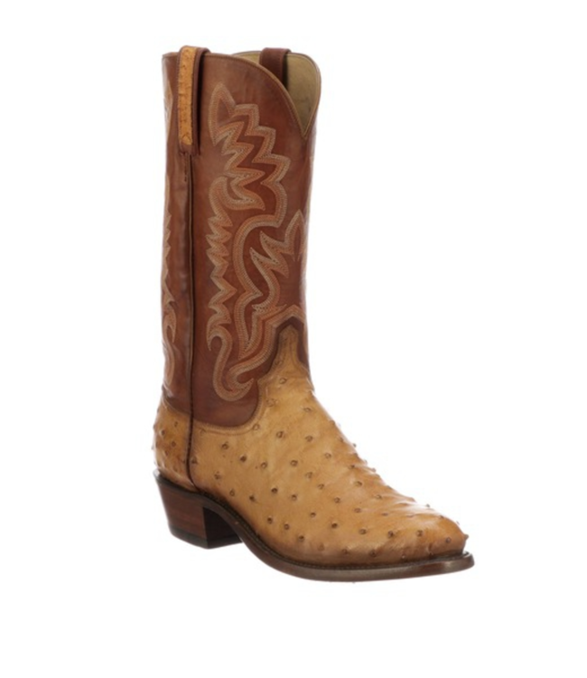Lucchese Dante Ostrich Roper Boots