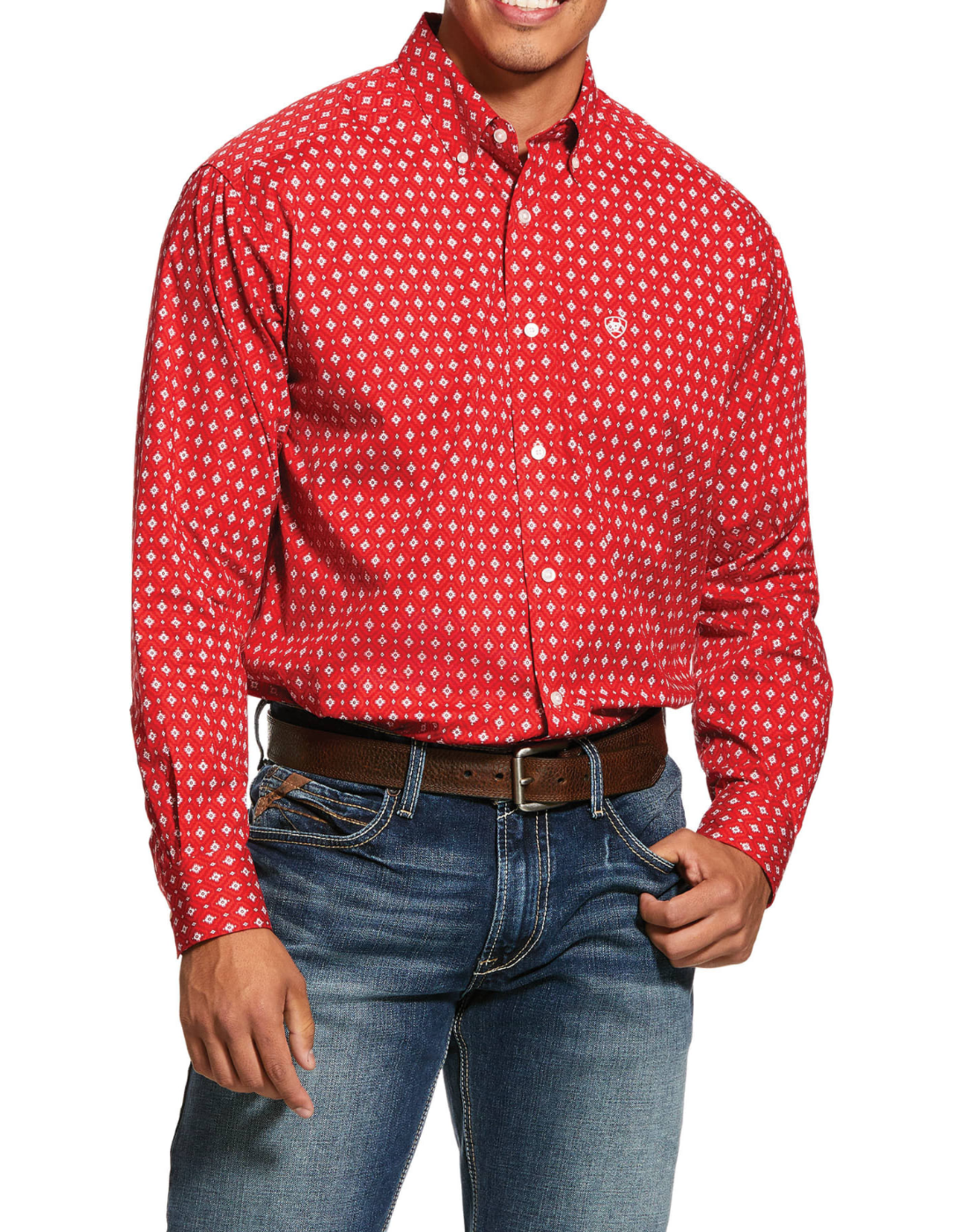 Ariat Ariat Nelton Print Stretch Classic Fit Shirt