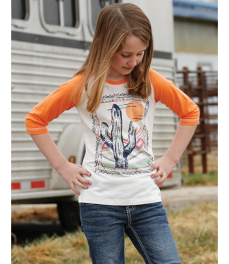 Cinch Girls 3/4 Sleeve Raglan Tee