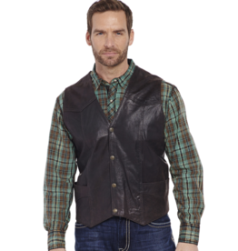 Cripple Creek Antique Boar Suede Leather Vest