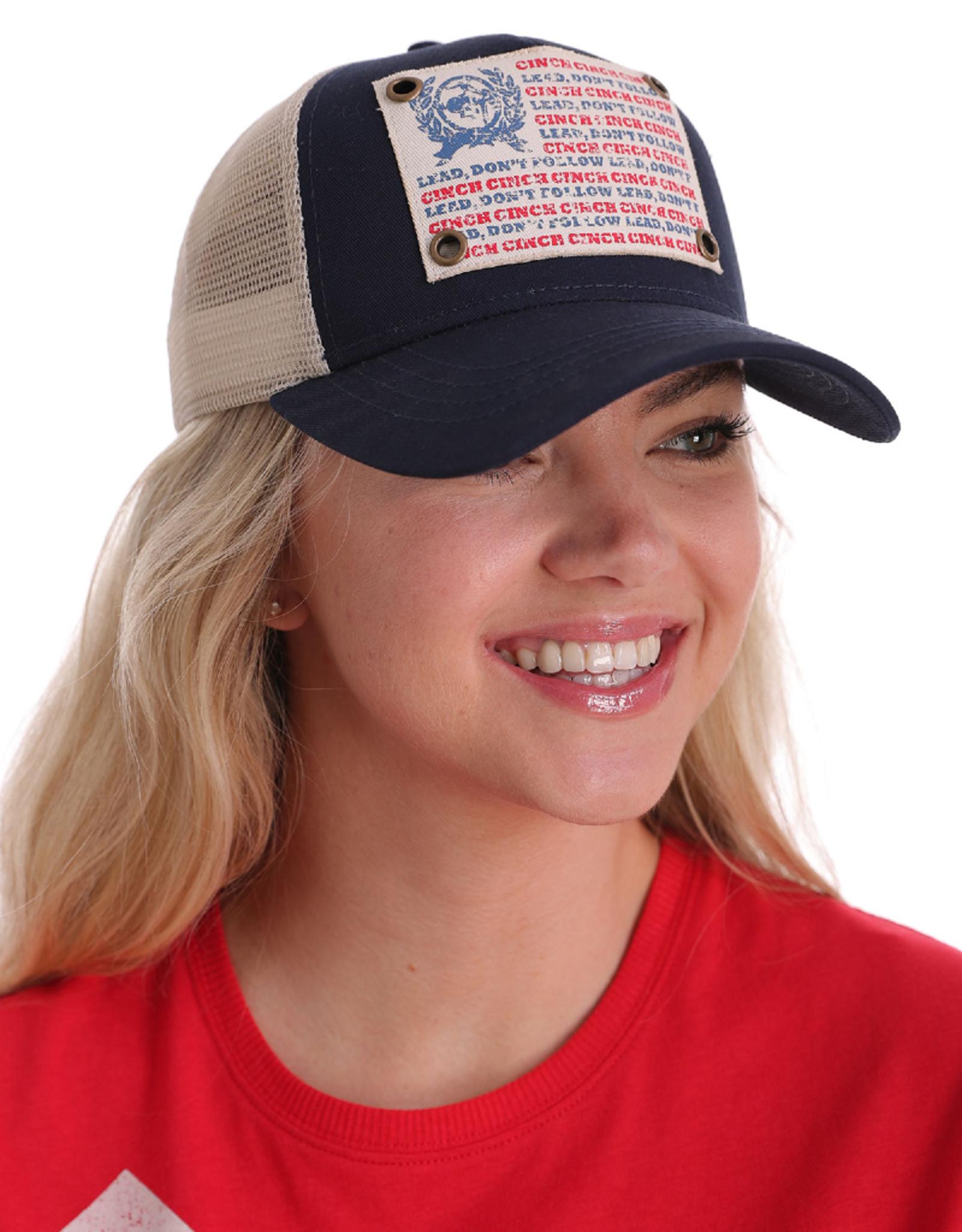 Cinch Cinch Logo Snapback Cap, Navy