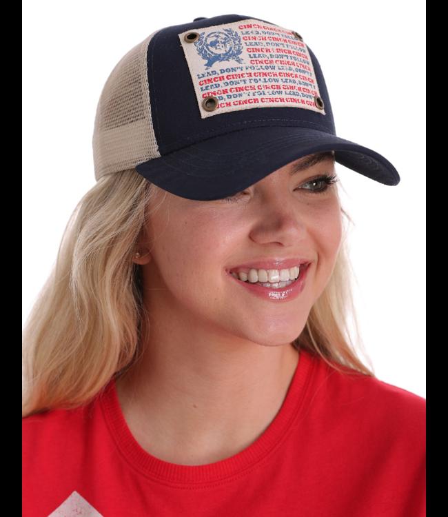 Cinch Logo Snapback Cap, Navy
