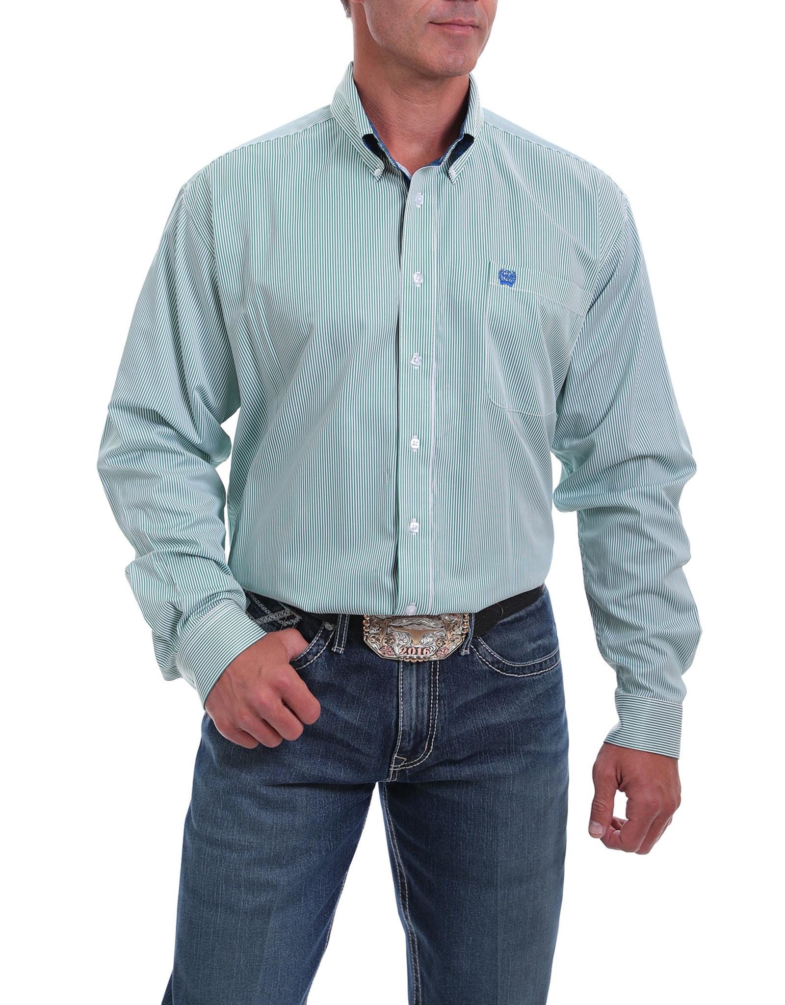 Cinch Cinch Classic Fit Stripe Tencel Shirt