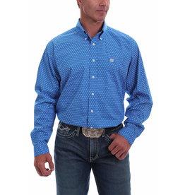 Cinch Geometric Print Button Shirt