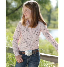 Cinch Girls Arrow Print Snap Western Shirt
