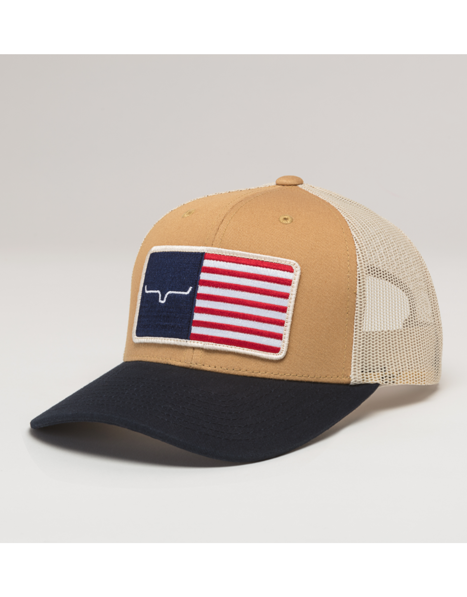 Kimes Ranch Kimes Ranch American Trucker Cap, WW Brown/Navy
