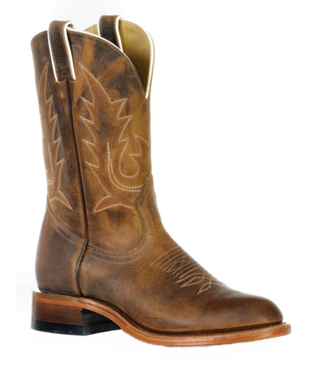 Boulet Round Toe Roper Boots