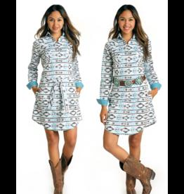 Panhandle Slim Print Snap Dress