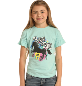 Panhandle Slim Born to Ride Ruffle Sleeve Tee