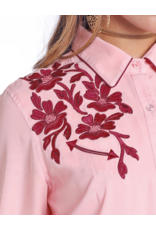 Panhandle Slim Panhandle Slim Tencel Blouse with Floral Embroidery