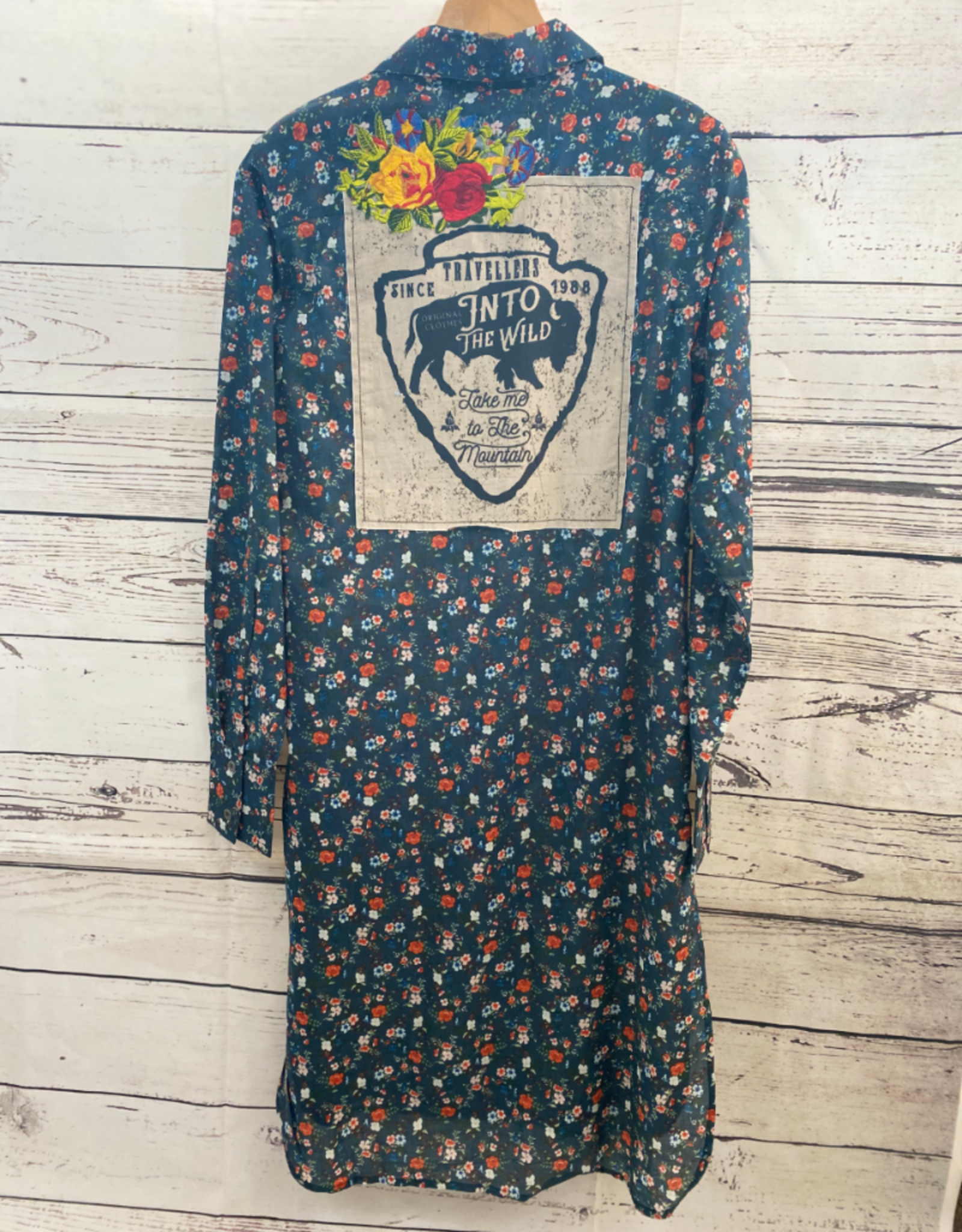 Montana Clothing Co MontanaCo Long Floral Duster