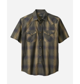 Pendleton Frontier Snap Plaid Shirt, Olive/Black