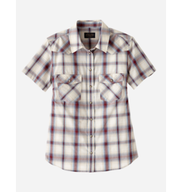 Pendleton Frontier Snap Plaid Shirt, Ivory/Port