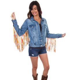 Scully Fringe Denim Jacket