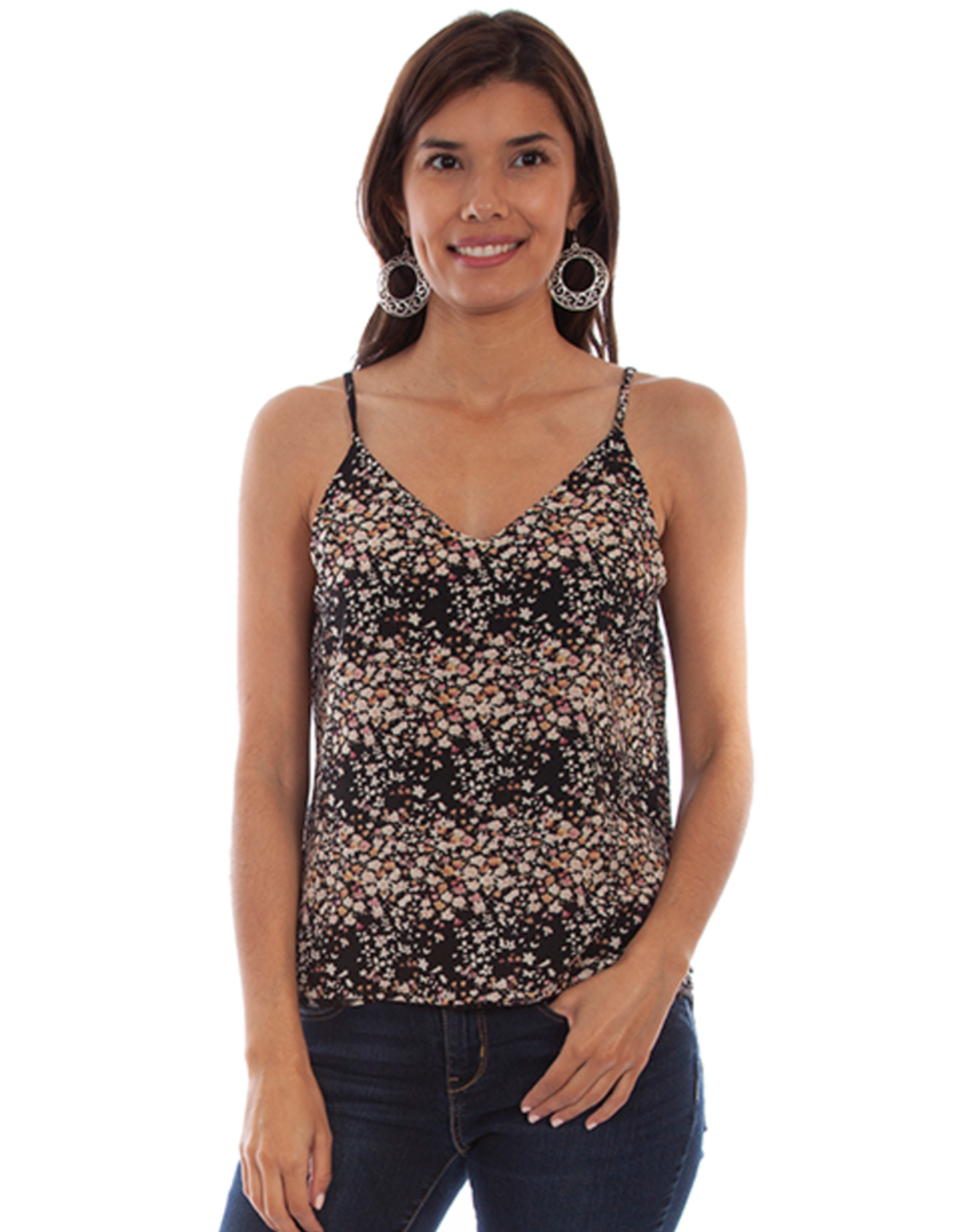 Scully Scully Floral & Feather Reversible Tank Top