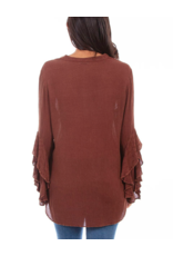 Scully Scully V Neck Embroidered Tunic