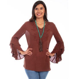 Scully V Neck Embroidered Tunic