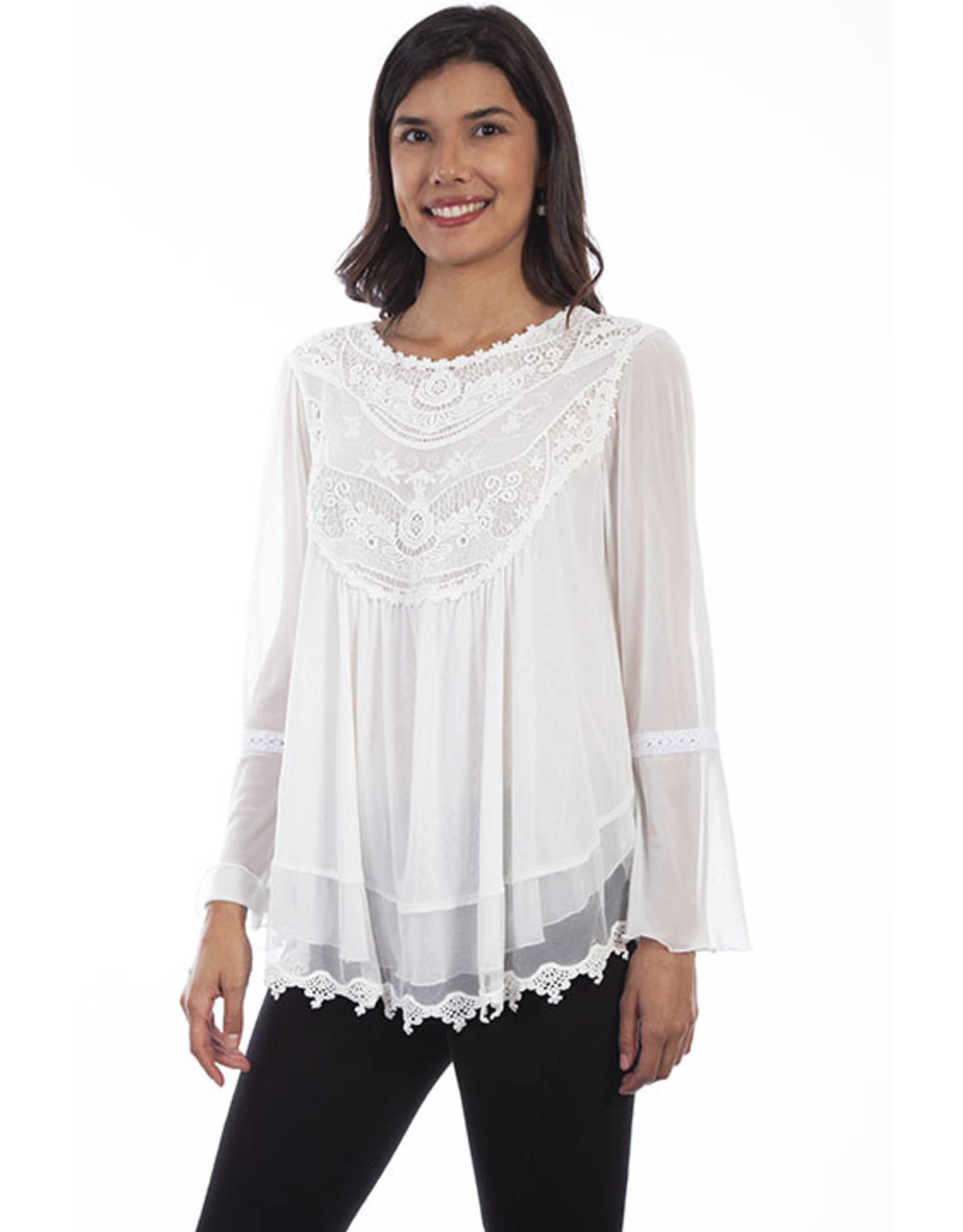 Scully Scully Lace & Embroidered Tunic
