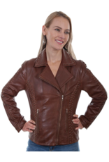 Scully Scully Lamb Leather Braided Jacket