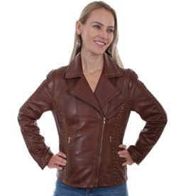 Scully Lamb Leather Braided Jacket