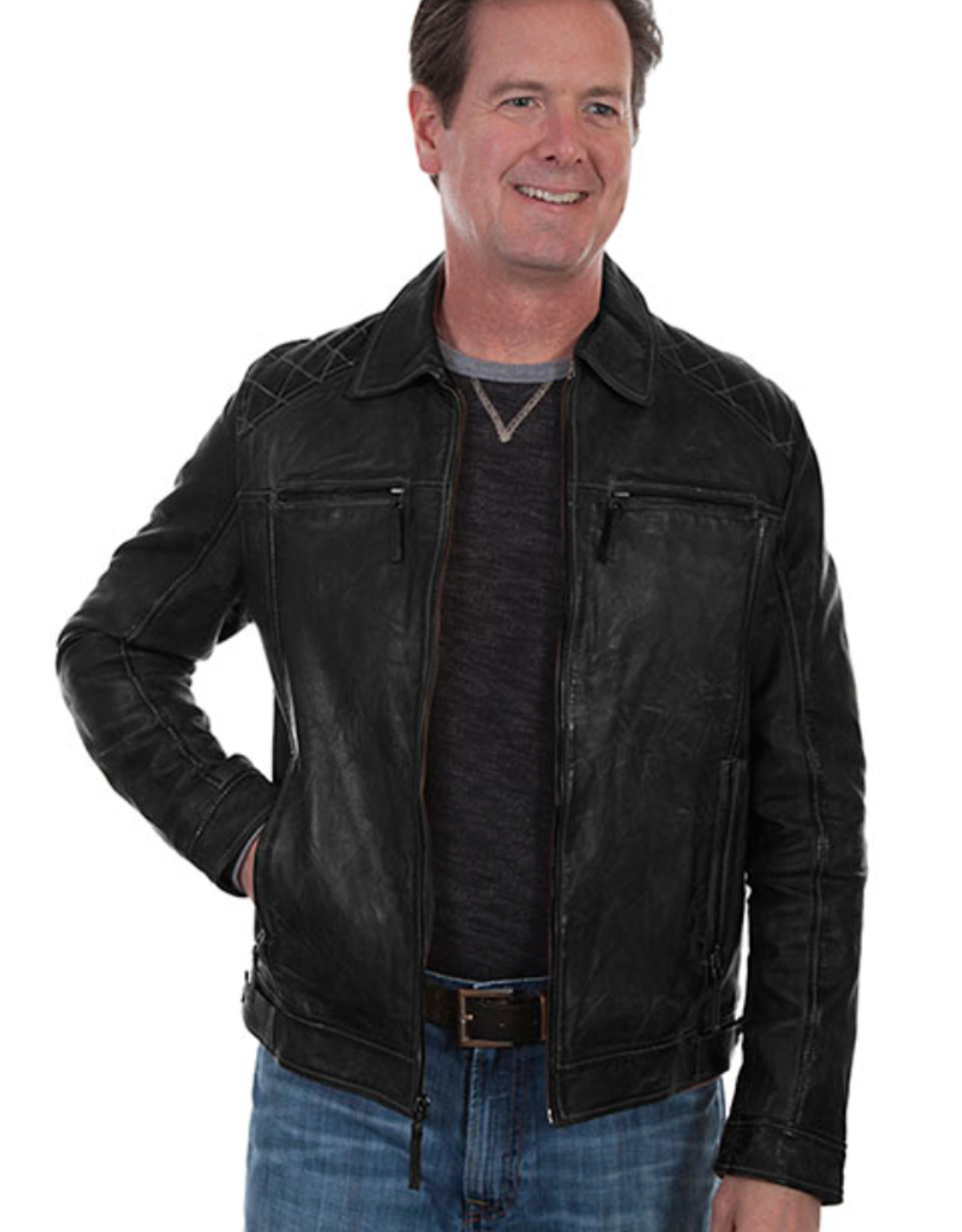 Scully Scully Lamb Leather Jacket