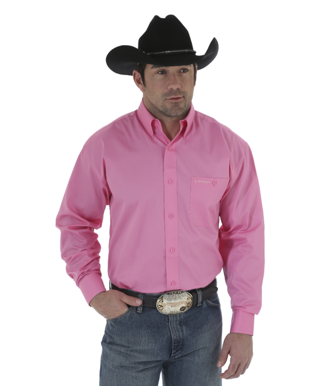 Wrangler Tough Enough to Wear Pink Solid Shirt