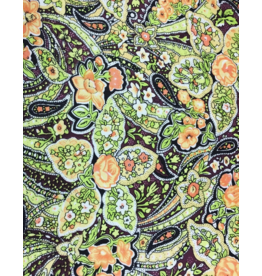 Wyoming Traders Green Calico Paisley Silk Wild Rag