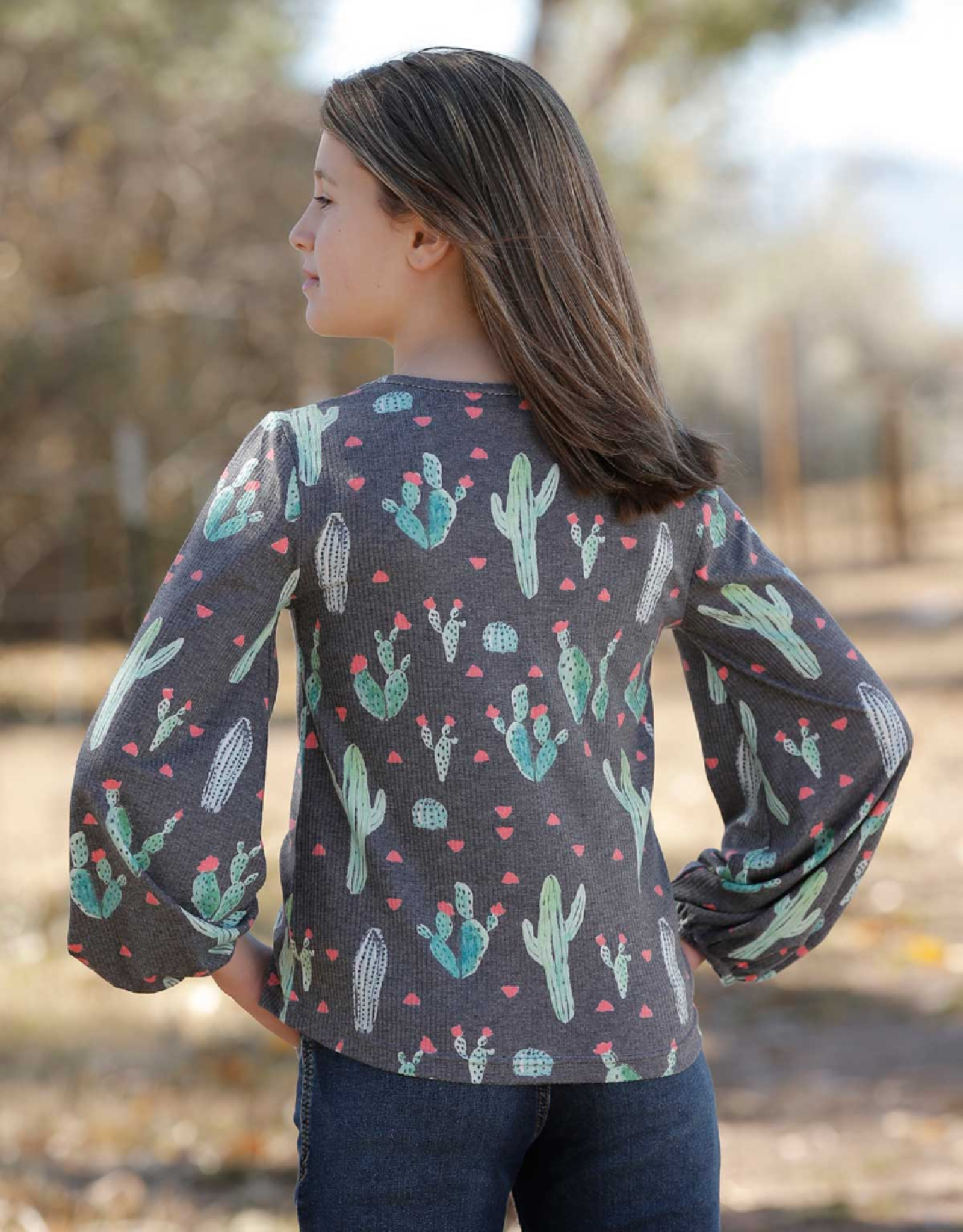 Cinch Cruel Girls' Cactus Print Thermal Top
