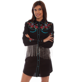 Scully Embroidered Snap Shirt Dress