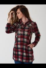 Montana Clothing Co Montana Co Prairie Creek Embroidered Plaid Tunic