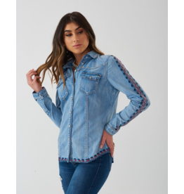 Montana Clothing Co San Jose Embroidered Geometric Shirt