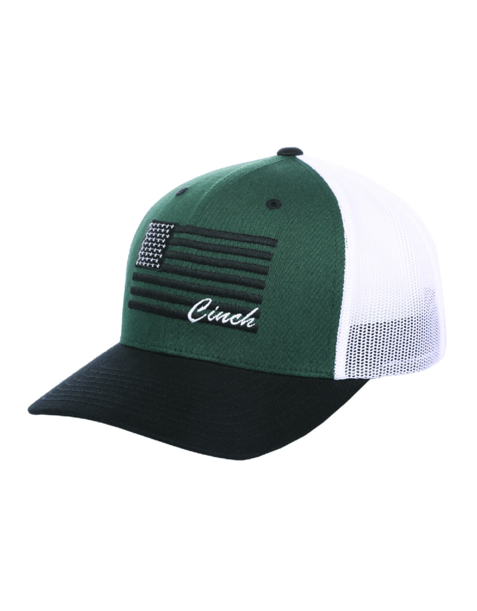 Cinch Cinch FlexFit Logo Americana Cap, Green