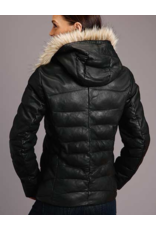 Stetson & Roper Apparel Stetson & Roper Apparel Puffy Leather Hooded Jacket