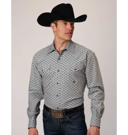 Stetson & Roper Apparel Horseshoe Print Stretch Shirt