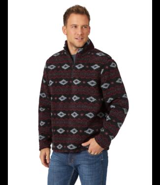 Wrangler 1/4 Zip Sherpa Print Pullover
