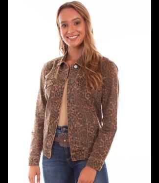 Scully Denim Print Jacket Leopard