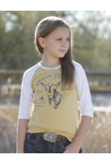 Cinch Girls' 3/4 Sleeve Whatever Floats Your Goat Print Tee