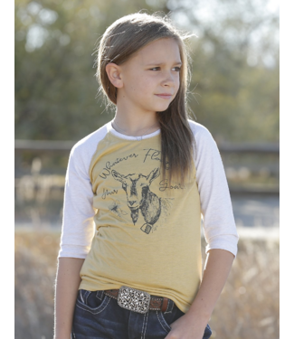 Cinch Girls 3/4 Sleeve Whatever Floats Your Goat Tee
